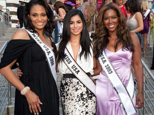 The Michigan 3: Carole Gist, Miss USA 1990, Rima Fakih, Miss USA 2010 and Kenya Moore, Miss USA 1993