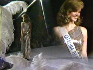 Miss USA 1983, Julie Hayek competes at Miss California USA 1982