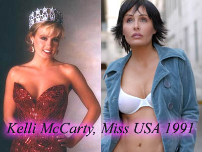 Kelli McCarty, Miss USA 1991, then and now.