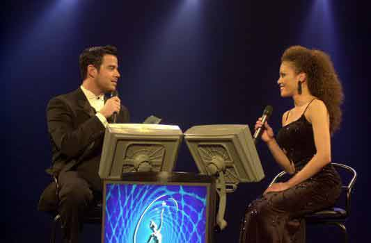 Lynnette and Carson Daly play Who Wants to be Miss USA?