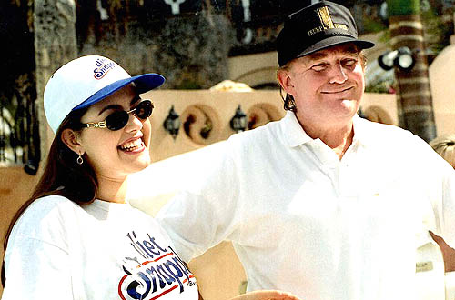 Alicia Machado-Miss Universe 1996 with Donald Trump