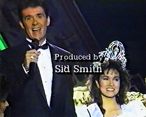 Alan Thicke and Porntip Nakhirunkanok-Miss Universe 1988