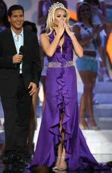 Mario Lopez and Miss Teen USA 2006, Katie Blair