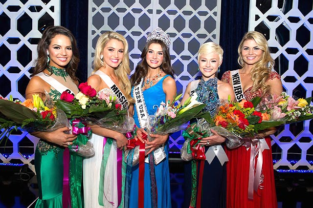 Miss Teen USA 2014 top 5 (L-R) California, Mississippi, South Carolina, Pennsylvania, Nueva Jersey