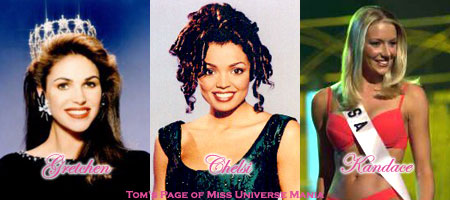 The 6 year Texas chain: Miss USA 1989-Gretchen Polhemus, Miss USA 1995-Chelsi Smith, Miss USA 2001-Kandace Krueger