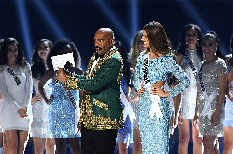 Steve Harvey with Colombia