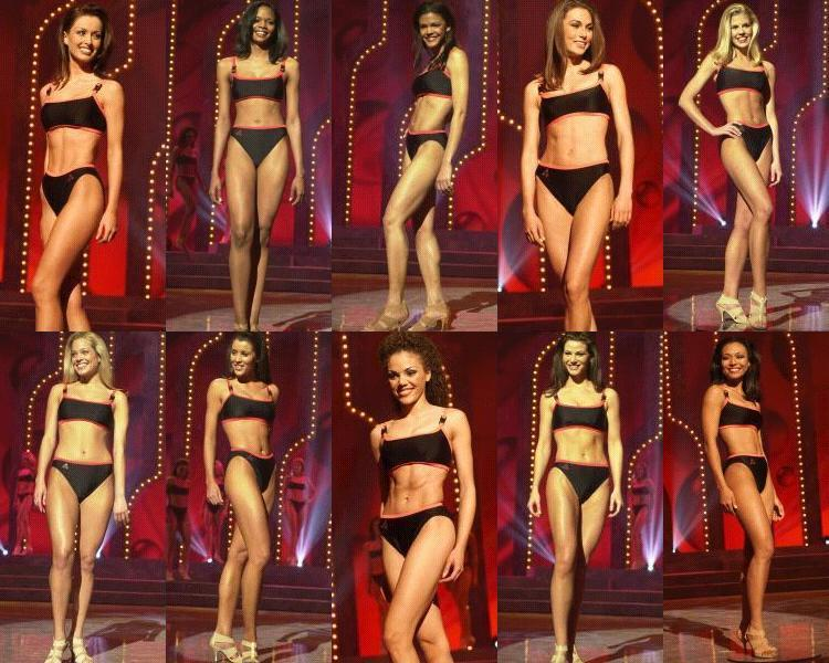 Swimsuit competition:  South Carolina, Colorado, Iowa, New Hampshire, Kansas, Michigan, Alabama, Tennessee, Georgia, New York