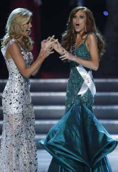 Alyssa Campanella reacts to winning Miss USA