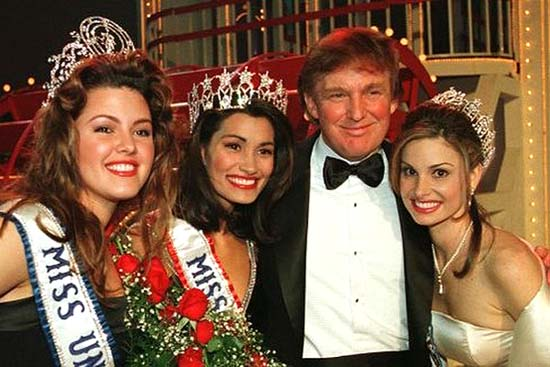 After the 1997 Miss USA pageant: Alicia Machado-Miss Universe 1996, Brook Lee-Miss Universe 1997, Donald Trump, Christie Lee Woods-Miss Teen USA 1996