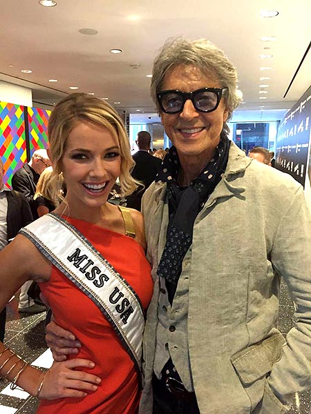 The reigning Miss USA, Olivia Jordan with performer Tommy Tune.  Tommy was one of the featured performers of the 1986 Miss USA pageant 30 years ago which saw Texas' Christy Fichtner take the crown with Academy Award winning actress, Ohio's Halle Berry finishing as 1st runner up.