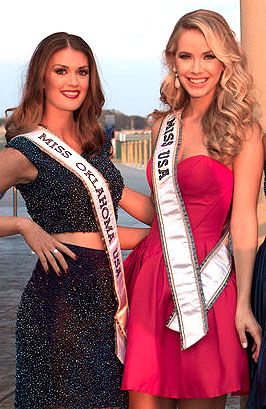 Alex Miller, Miss 52 USA with Olivia Jordan, Miss USA 2015