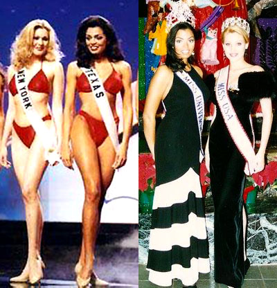 Shanna Moakler, Miss USA 1995 and Chelsi Smith, Miss Universe 1995