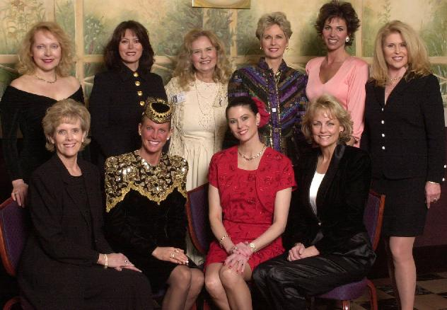 Back row - Marite Ozers (1963), Summer Bartholomew (1975), Charlotte Sheffield (1957), Terry Lynn Huntingdon (1959), Gretchen Polhemus (1989), Cheryl Ann Patton (1967).  Front row - Bobbi Johnson (1964), Mary Therese Friel (1979), Barbara Peterson (1976) and Kim Tomes (1977)